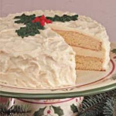 Eggnog Cake Recipe  I will be making this for a Christmas get together sometime! I love eggnog and want to try different things with it! :) Can't wait!