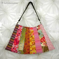 Asian Fan Purse Pattern Pattern by La Todera. DIY fabric purses, fabric flowers, and other fabric manipulation patterns for sale at www.latodera.com.