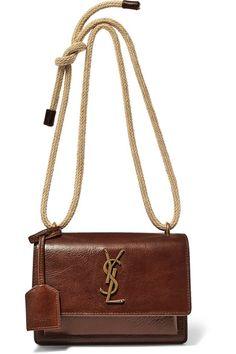 Saint Laurent | Sunset small textured-leather shoulder bag | NET-A-PORTER.COM