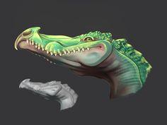 ArtStation - My first blender sculpt, Aina Theede Creatures 3, Creature Design, Sculpting, Illustration Art, Dragon, Digital, Artwork, Painting, Sculpture
