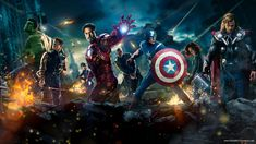 Iron Man, Thor, Hulk and Captain America lead the Avengers in Avengers Assemble Avengers 2012, Marvel Avengers, Avengers Poster, Avengers Movies, Superhero Movies, Marvel Heroes, Avengers Alliance, Avengers Team, Marvel Venom