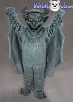 Gargoyle Mascot Costume 29206 is part of our Animal Mascots Fantasy Creatures Polyfoam line. The mascot costume head is constructed out of molded foam and latex for superior detail and durability and includes a screened vision panel, comfort ventilation panels, and a built-in cooling fan. Mascot costume fits most adults ranging from 5'4 inches (162 cm) to 6'2 inches