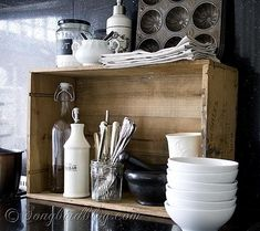 12 Upcycled Crate ideas | Recyclart http://www.recyclart.org/2014/06/12-upcycled-crate-ideas/