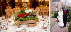 Rustic Red and White Christmas Wedding in Williamsburg | Tidewater and Tulle | Coastal Virginia Wedding Blog and Magazine