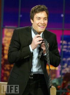 The tongue sticking out is what really does it for me! Jimmy Fallon, Jimmy Jimmy, Saturday Night Live, Beautiful Boys, Beautiful People, Hello Gorgeous, Cute Celebrities, Celebs, James Thomas