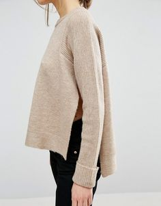 ASOS Sweater In Clean Knit With Step Hem