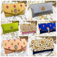 Craftstages International Presents  Latest collection of Clutch bags for wedding, evening party, or any special occassion.  For bulk orders and queries please Call/WhatsApp at +91-9625587736, +91-8130018901, +91-9911976001 or email us at craftstagesinternational@gmail.com Clutch Bags, Evening Party, Sunglasses Case, Presents, Purses, Wedding, Collection, Gifts, Handbags