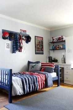 Back To School Tween Boy's Bedroom Makeover