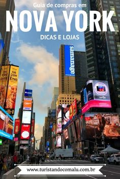 Um guia completo de lojas e dicas práticas para ir as Compras em Nova York nos Estados Unidos.