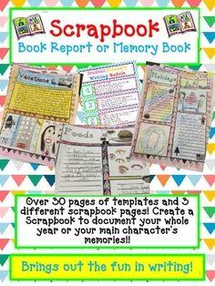 character scrapbook book report