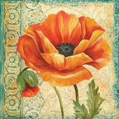 RB 6226PG	 Poppy Tapestry II  18x18