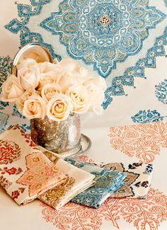 Hand Printed Fabrics From Quadrille!