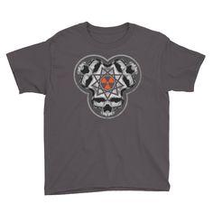 SINISTER SKULLS - Enneagram Skull Youth Short Sleeve T-Shirt