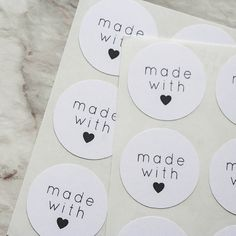 54 White Made With Love Stickers Made With Love door seasprout, $4.00