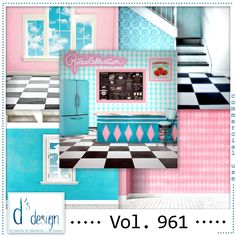 Vol. 961 - Fifties Papers - by Doudou's Design