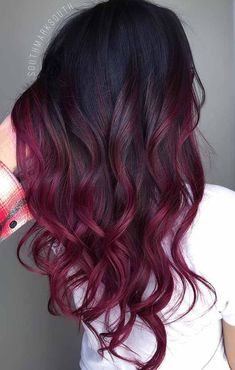 7 Hottest Hair Color Trends For 2019 : New Hair Color Ideas - red hair - hair Hot Hair Colors, Red Hair Color, Cool Hair Color, Black Cherry Hair Color, Red Purple Hair, Ombre Hair Color For Brunettes, On Trend Hair Colour, Blonde Color, Red Ombre Hair Color