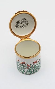 Halcyon Days Bilston and Battersea Enameled Trinket Box with Birds Halcyon Days, Tiny Treasures, Enamels, Treasure Boxes, Trinket Boxes, Birds, Crystals, Antiques, Ebay