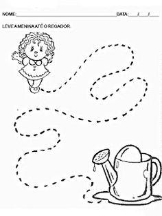 Atividades para maternal: 31 Atividades de coordenação motora para maternal 1 e 2 Preschool Lesson Plans, Preschool Science, Preschool Worksheets, Letter Activities, Color Activities, Preschool Activities, Ladybug Coloring Page, Tracing Letters, Petite Section