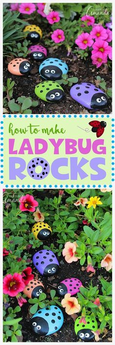 Learn to make these adorable ladybug painted rocks. use special outdoor paint fo… Learn to make these adorable ladybug painted rocks. use special outdoor paint for this adorable garden craft so you can keep garden ladybugs all summer! Kids Crafts, Summer Crafts, Crafts To Do, Projects For Kids, Craft Projects, Arts And Crafts, Summer Fun, Decor Crafts, Simple Projects