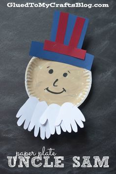 Paper Plate Uncle Sam {Kid Craft}