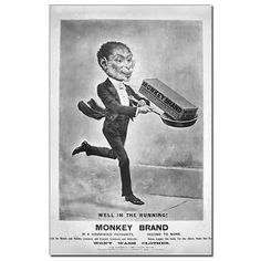 Vintage Advertising Poster  An unusual series of advertisements for Monkey Brand Soap that always involve a monkey. These would make lovely framed vintage prints for your home.