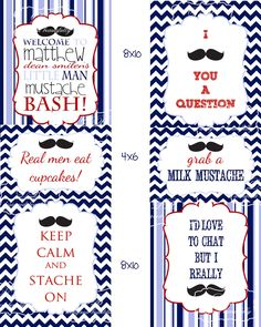 Designed Beautifully: Mustache Bash! Signs