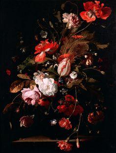 le-desir-de-lautre: Willem van Aelst (Dutch, 1627-1683), Still Life with Flowers, 1668. Oil on canvas, 79 × 60 cm (31.1 × 23.6 in).