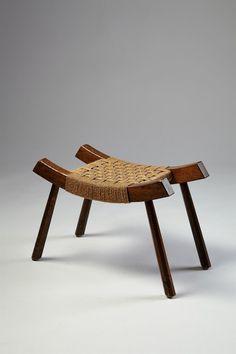 Oak and Sea Grass Stool, Handmade Furniture, Home Decor Furniture, Unique Furniture, Wooden Furniture, Furniture Design, Wooden Stools, Wooden Stool Designs, Banquettes, Wood Design