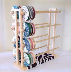 Super Ribbon Holder Storage Rack Organizer by DeesNecklaceHolders, $39.98