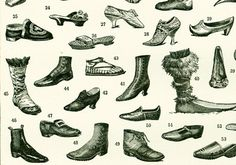 """French antique print published in Paris by LAROUSSE between 1897 and 1907. Not a copy.  Taken from the """"Nouveau Larousse illustré"""". Frame it or use it for cards, scrapbooki... #snow-boots"""