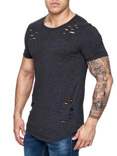 F&S Men Ripped Holes T-Shirt - Deep Red   franelas   Pinterest ...