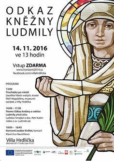 Kiki artworks - plakát Villa Hrdlička v České lípě, Horizont Svatá Ludmila 1100 let