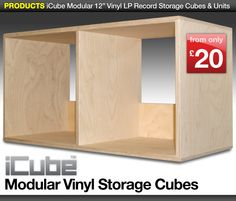 OFF High Quality, Handmade Vinyl LP Record Storage Furniture. Record Crate, Record Shelf, Vinyl Record Storage, Record Cabinet, Cube Storage Shelves, Storage Boxes, Shelving, Storage Ideas, Cube Furniture