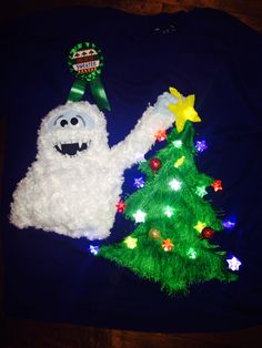 Ugly Sweater Party- Bumble the Abominable from Rudolph #uglysweater #homemade