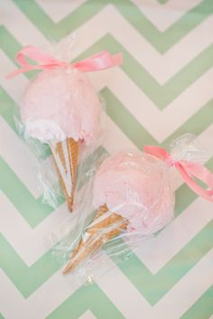 Cotton Candy Cones: http://www.stylemepretty.com/living/2014/03/06/hannahs-ice-cream-parlor-party/ | Photography: Sowen Studios - http://sowenstudio.com/