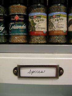 Gotta find these labels at Michaels for organizing the cupboards