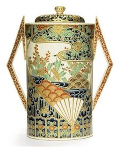 A Satsuma Koro [Incense Burner]  Signed Dai Nihon Satsuma yaki Hozan and blue Shimazu mon, Meiji Period (late 19th century)
