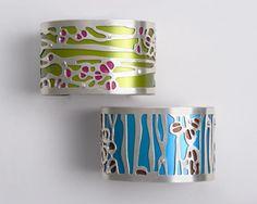 Silver & Aluminum cuffs by Gogo Borgerding.
