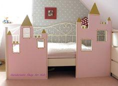 Dieses Zauberhafte +Prinzessinen+ +Schloß+ lädt nicht nur zum spielen ein, sondern sorgt auch für Märchenhafte Träume!!! Bett-Wandverkleidung au...