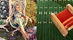 Left photo : © Collection 'Jardin d'Intérieur'. india mahdavi pour La Manufacture Cogolin /// Right photo : ©crédits Steven Meisel / Vogue via Goodmoods