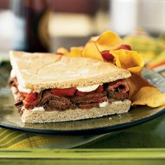 Grilled Beef and Pepper Sandwich by Cooking Light