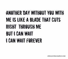 Another day without you with me .... I can wait forever. Simple Plan Lyrics