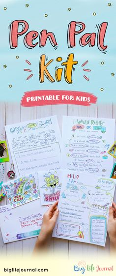 Finding and cultivating a pen pal friendship for your child can be a wonderful experience! Looking for ideas? The Pen Pal Printable Pack includes ideas on what to write about as well as fun cards to fill out, color and mail to your new pen pal. Kids Learning Activities, Summer Activities For Kids, Physical Activities, Kits For Kids, Projects For Kids, Letter Writing For Kids, Growth Mindset For Kids, Mail Tag, Snail Mail Pen Pals
