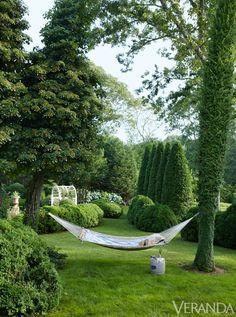 I most definitely need a hammock. Charlotte Moss Easthampton
