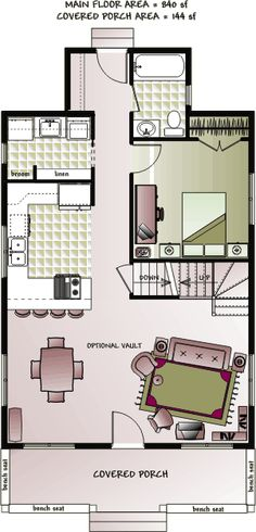 tiny house floor plans | ... storey small country cottage house floor plan by Home Concepts