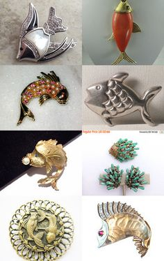 Gone Fishing - Vintage Jewelry from Vjt by moonbeam0923 on Etsy--Pinned with TreasuryPin.com