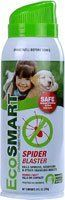 EcoSMART 33130 Organic Spider Blaster, 9-Ounce Aerosol by EcoSMART. $4.99. Safe to use around children and pets. Use on black widow, brown recluse and other dangerous spiders. Non toxic, plant based formula. This product contents 14 ounces. Organic spider blaster. Kills and repels spiders, scorpions and other crawling insects. Works fast and kills on contact. Use on black widow, brown recluse and other dangerous spiders. Up to 10 feet jet spray penetrates webbing. Safe to...
