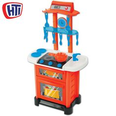 Super fun kitchen with interactive sound effects. Lots of accessories and opening doors to encourage fun roleplay and development. For ages 3 years +