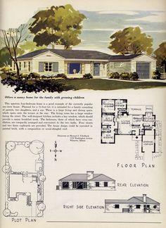 mid century modern house plans 1950 modern ranch style house plan