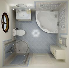 Trendy Small Bathroom Remodeling Ideas and 25 Redesign Inspirations-love the lay-out